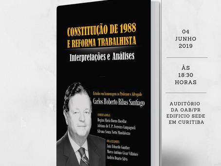 Lançamento da obra em homenagem ao professor Carlos Roberto Ribas Santiago