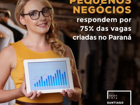 Pequenos Negócios respondem por 75% das vagas criadas no Paraná