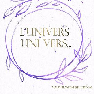 L'univers _C'est uni vers soi.__Cette fa