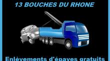 Enlèvement d'Epaves Gratuit à Marseille et le 13 Bouches du Rhone