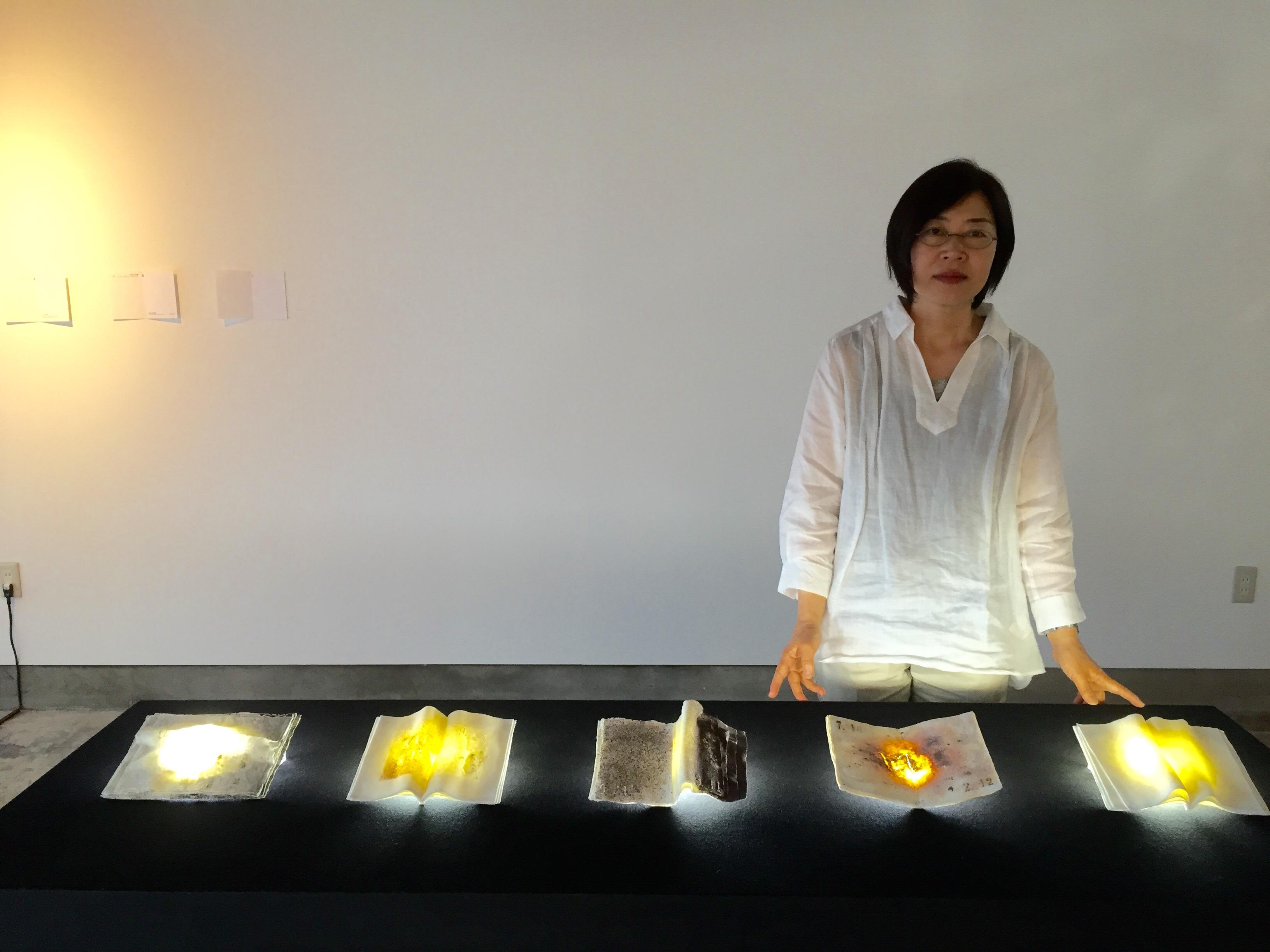 with Artist, Ruriko Miyamoto
