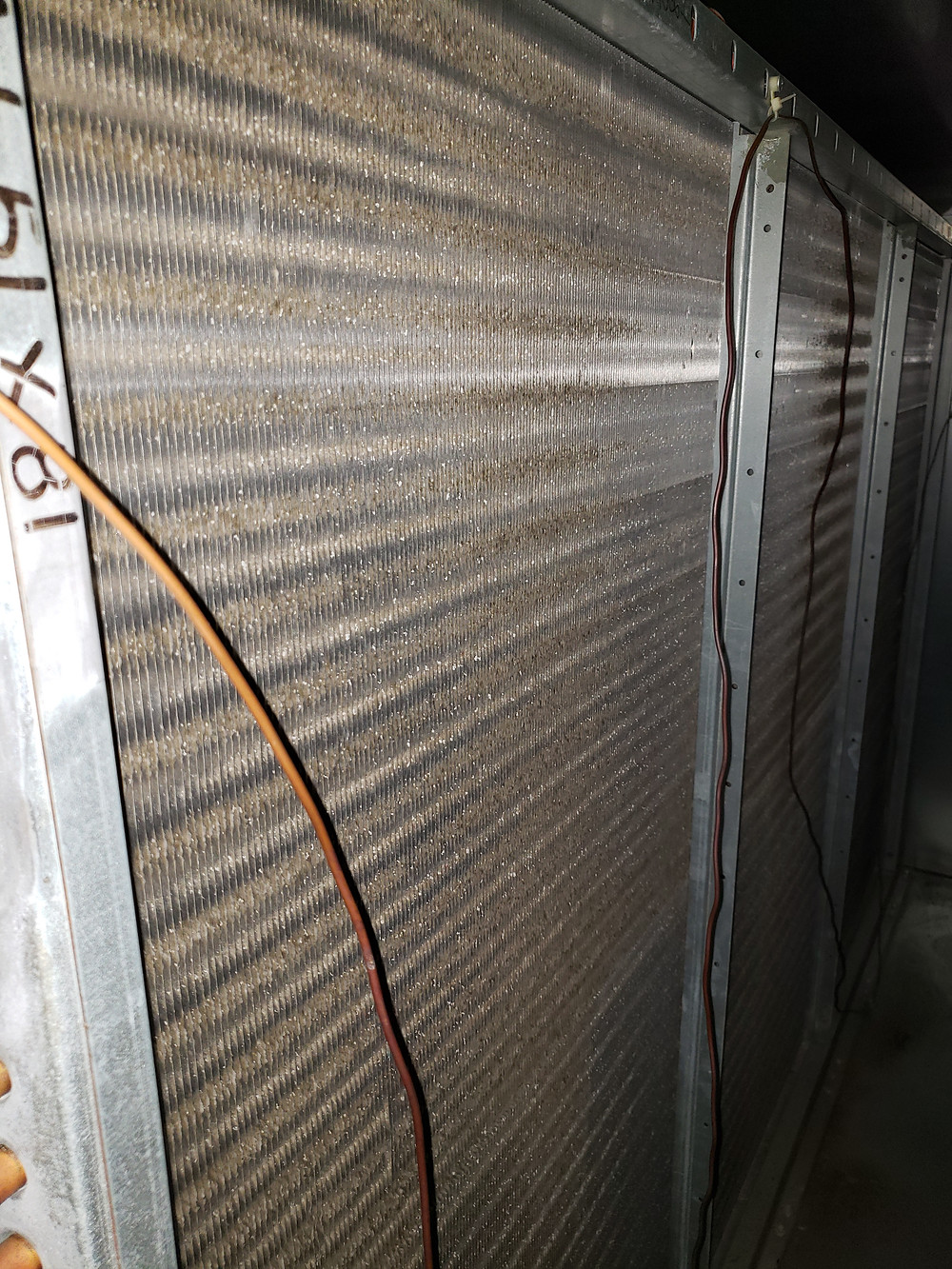 This is the downstream side of the cooling coil