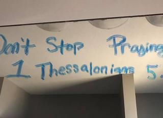 Don't. Stop. Praying.