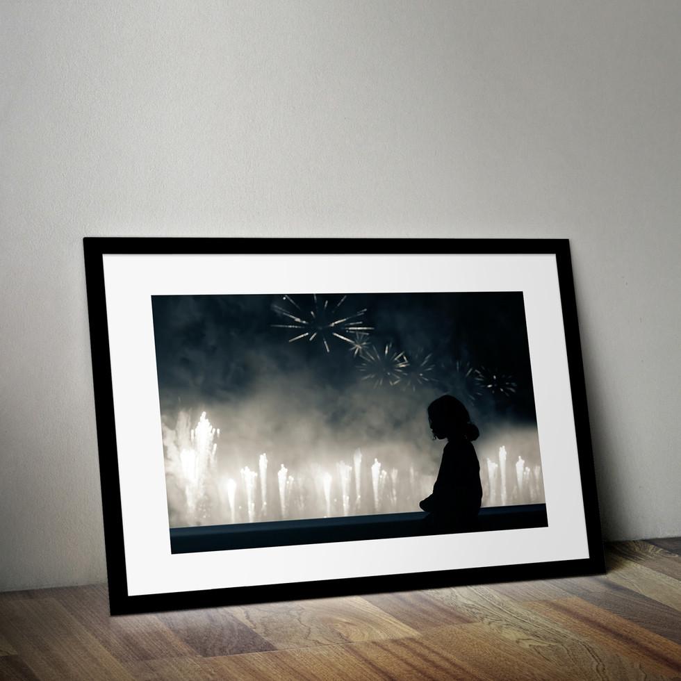 Firework starry sky