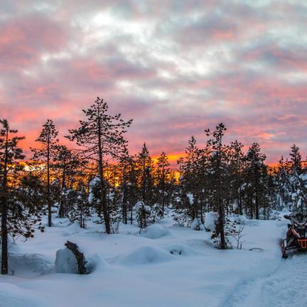 Beauté des paysages  en Laponie suédoise