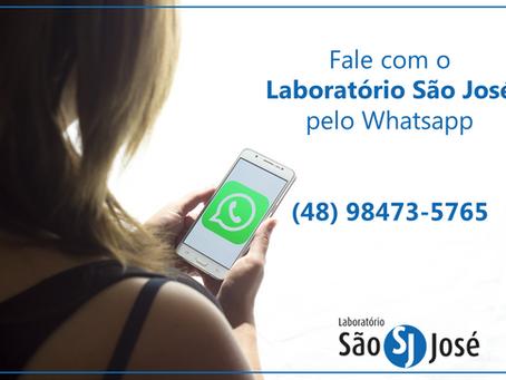 Fale com o Laboratório São José pelo WhatsApp!