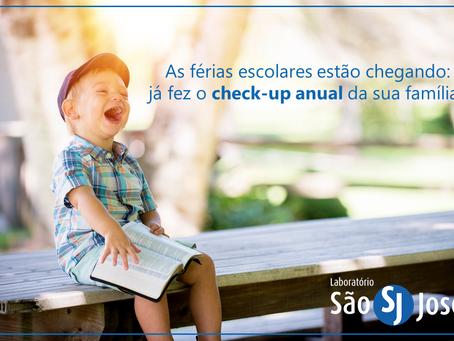As férias escolares estão chegando: já dez o check-up anual da sua família?