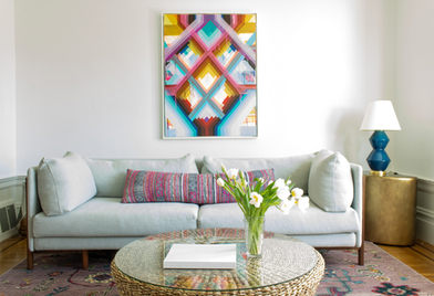 Colorful, Family friendly Living Room