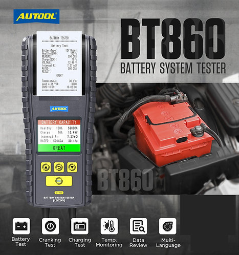 AUTOOL BT860 Battery System Tester 12V/24V
