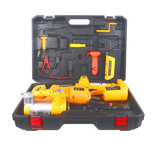 3 in 1 Car Kit.12volts Automatic Car Jack, Tyre inflator, automatic Wrench