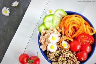 Quinoa-Thunfisch-Bowl