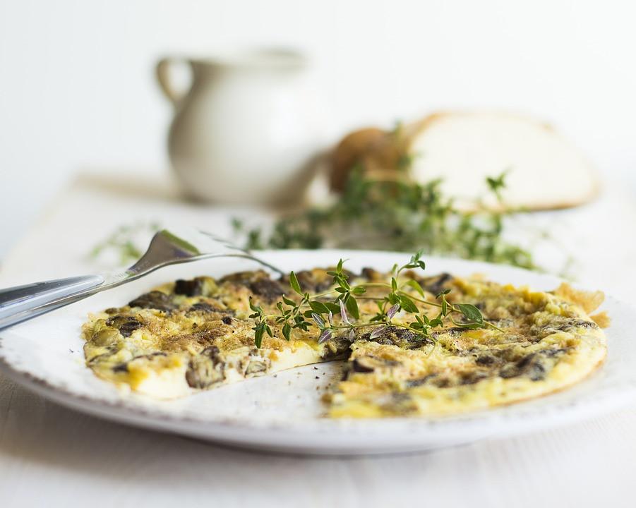 Omelette gesundes Fast Food