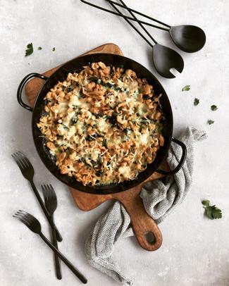 Dinkel Käsespätzle mit Spinat