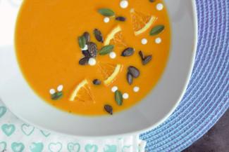 Schnelle Kürbis-Orange-Honig Suppe