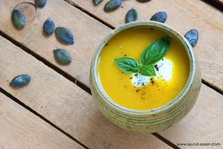 Kürbissuppe mit Honig
