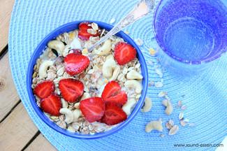 Erdbeer-Cashew Müsli