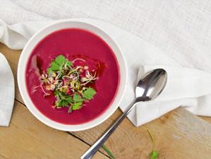 Cremige Rote Rüben - Kren Suppe