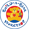 Logo for Build-A-Bear Workshop with stuffed animal bear in center