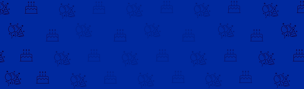 Birthday cake, balloons, and hat wallpaper