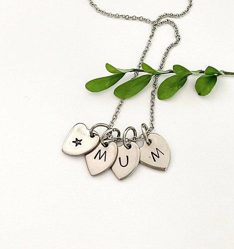 mum & a star ~ heart necklace