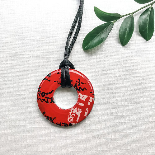 washer pendant – japanese paper 060