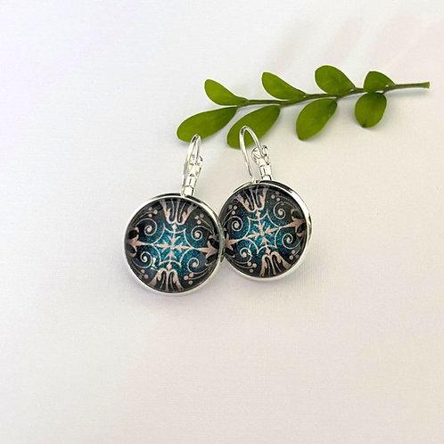 blue Celtic style  earrings