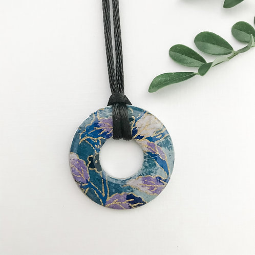 washer pendant – Japanese paper 023