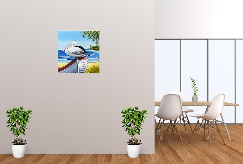 pelican beach - 45 x 45cm