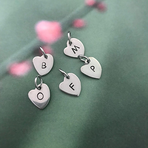 single heart shape letters