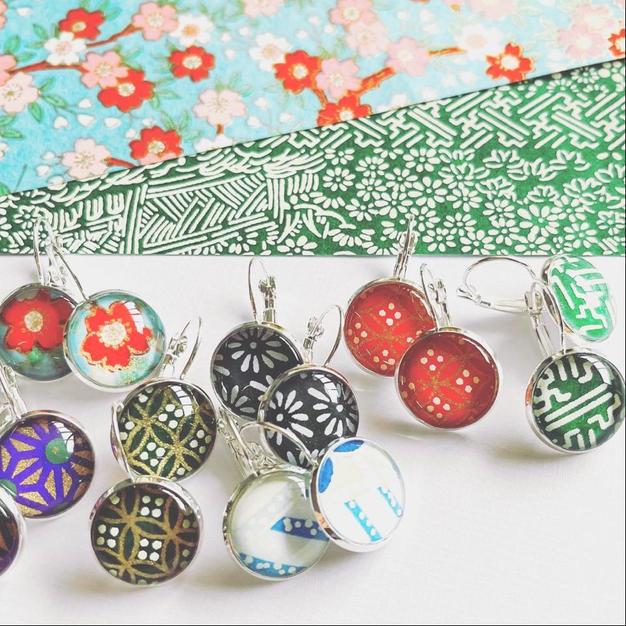 japanese paper earrings