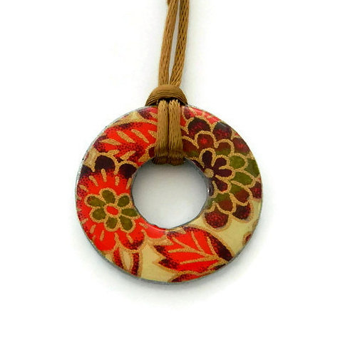 washer pendant – japanese paper 065
