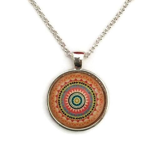 mandala with orange necklace