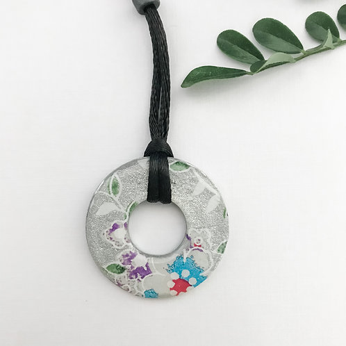 washer pendant – Japanese paper 018