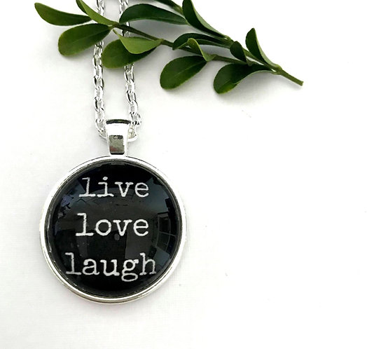 live love laugh necklace