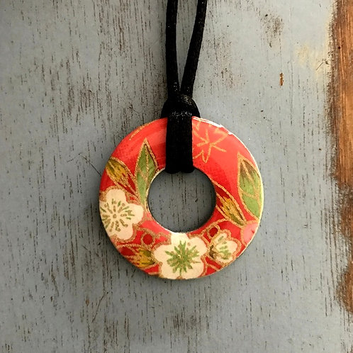 washer pendant – japanese paper 059