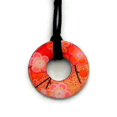 washer pendant – japanese paper 002