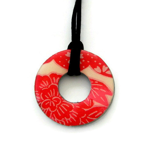 washer pendant – japanese paper 036