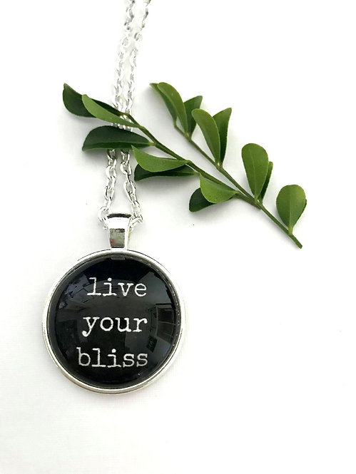 live your bliss pendant with long chain