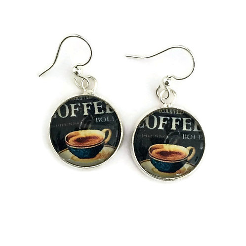 coffee time earrings
