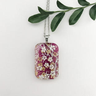 Japanese Paper Glass Necklaces