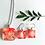 Thumbnail: square cherry blossoms pendant and earring set