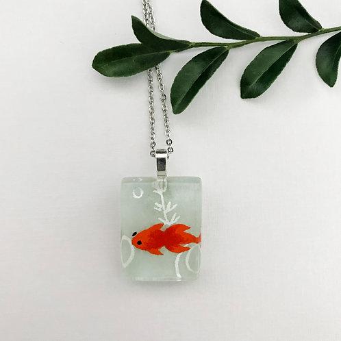 mini fish necklace