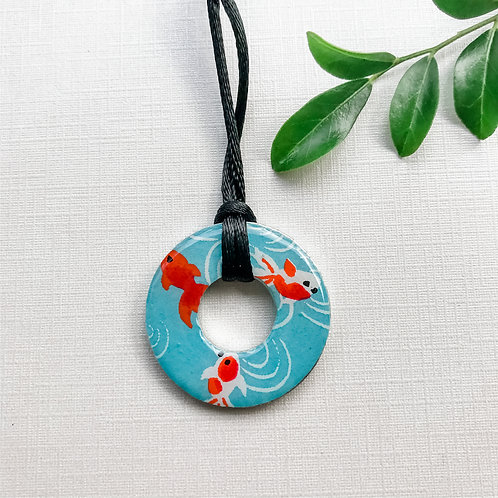 washer pendant – japanese paper 006