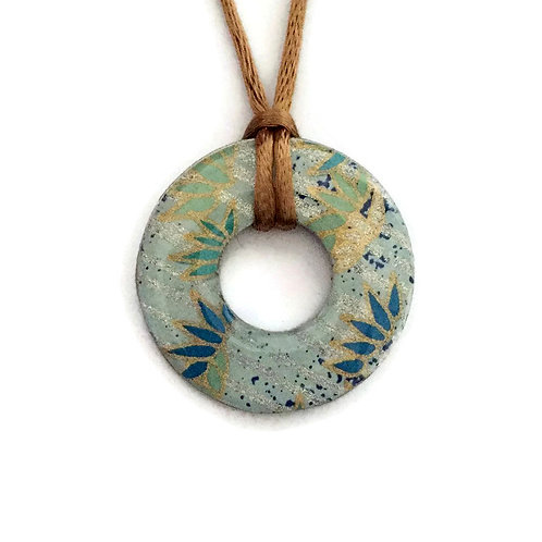 washer pendant – japanese paper 072