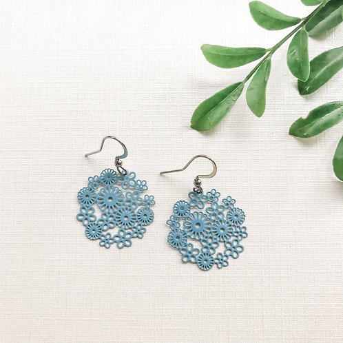 Antique Blue Small Flowers