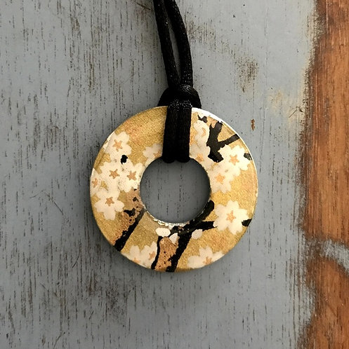 washer pendant – japanese paper 027