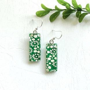 japanese paper glass earrings