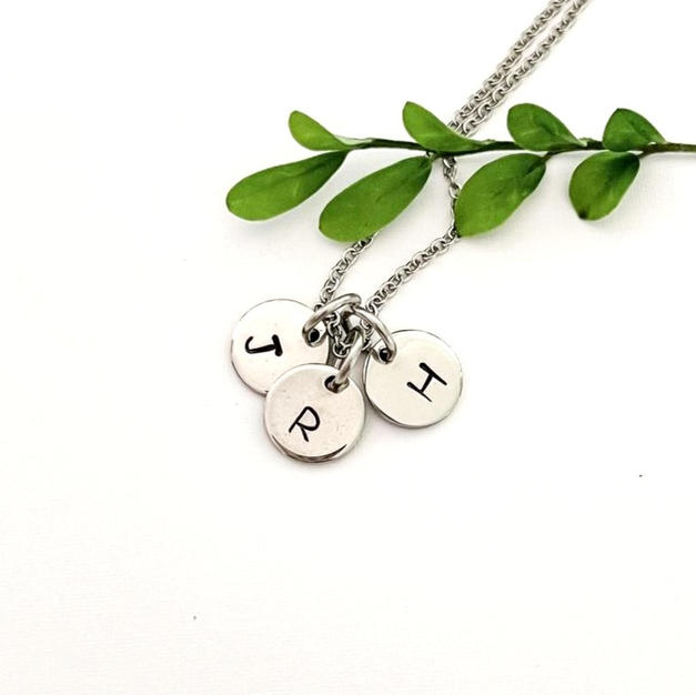 personalised hand stamped pendants