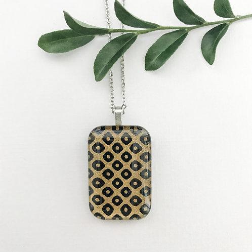 almost leopard print Japanese paper pendant