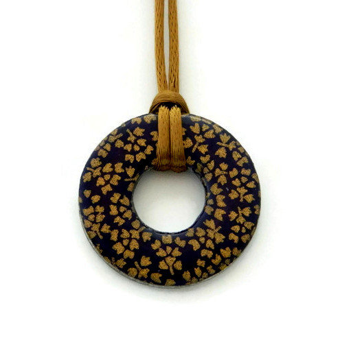 washer pendant – japanese paper 025